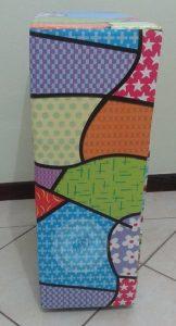 Gaveteiro confeccionado com caixa de papelão