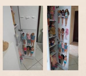 Multiplas bonecas no organizador